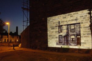 Using art - night time projections