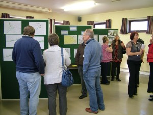 Stretton Neighbourhood Plan Launch People Talking at The Exhibition